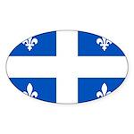 DrapeauQc1PMS293 Sticker (Oval 50 pk)