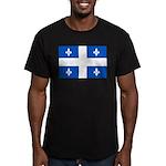 DrapeauQc1PMS293 Men's Fitted T-Shirt (dark)