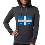 DrapeauQc1 Womens Hooded Shirt