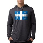 DrapeauQc1 Mens Hooded Shirt
