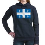 DrapeauQc1 Women's Hooded Sweatshirt