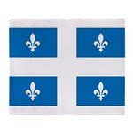 DrapeauQc1 Throw Blanket