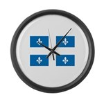 DrapeauQc1 Large Wall Clock