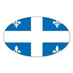 DrapeauQc1 Sticker (Oval 10 pk)