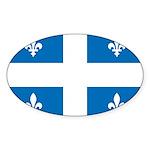 DrapeauQc1 Sticker (Oval 10 pk)