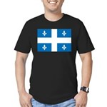 DrapeauQc1 Men's Fitted T-Shirt (dark)