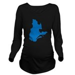 CarteQc2 Long Sleeve Maternity T-Shirt