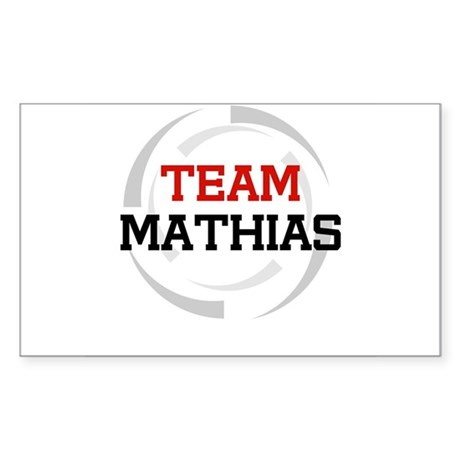 Mathias Rectangle Sticker