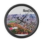 4decoupesignaturehaut Large Wall Clock