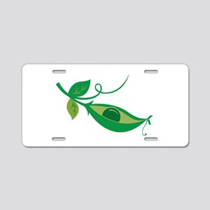 Pea In A Pod Aluminum License Plate