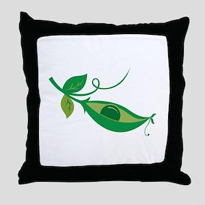 Pea In A Pod Throw Pillow