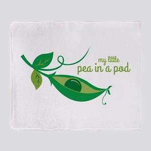 My Little Pea In A Pod Throw Blanket