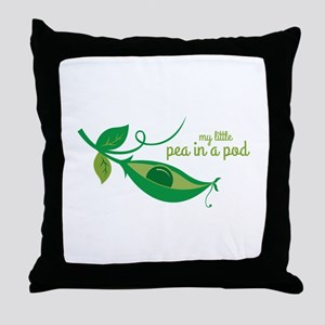 My Little Pea In A Pod Throw Pillow
