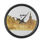 4decoupesignature Large Wall Clock