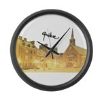 5decoupesignaturetourne Large Wall Clock