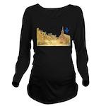 3decoupefleurlys Long Sleeve Maternity T-Shirt