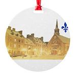 3decoupefleurlys Round Ornament