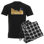 3decoupefleurlys Men's Dark Pajamas