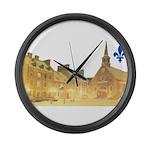 3decoupefleurlys Large Wall Clock