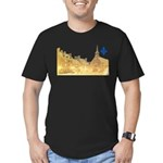3decoupefleurlys Men's Fitted T-Shirt (dark)