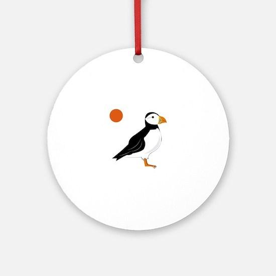 Puffin Bird Ornament (Round)