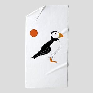 Puffin Bird Beach Towel