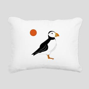 Puffin Bird Rectangular Canvas Pillow