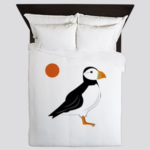 Puffin Bird Queen Duvet