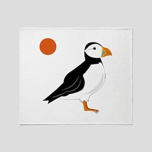 Puffin Bird Throw Blanket