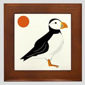 Puffin Bird Framed Tile