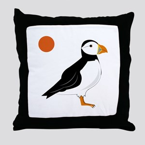 Puffin Bird Throw Pillow