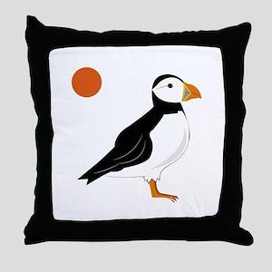 Puffin Bird Throw Pillow