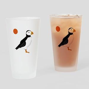 Puffin Bird Drinking Glass