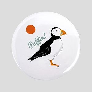 """Puffin! Bird 3.5"""" Button"""