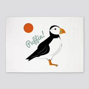 Puffin! Bird 5'x7'Area Rug
