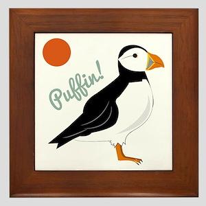 Puffin! Bird Framed Tile
