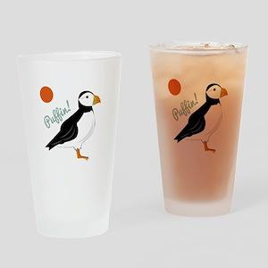 Puffin! Bird Drinking Glass