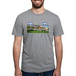 2decoupe2drapeaux Mens Tri-blend T-Shirt