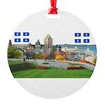 2decoupe2drapeaux Round Ornament