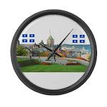 2decoupe2drapeaux Large Wall Clock