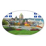 2decoupe2drapeaux Sticker (Oval 10 pk)