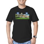 2decoupe2drapeaux Men's Fitted T-Shirt (dark)