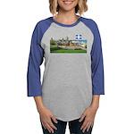 2decoupedrapeau Womens Baseball Tee