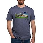 2decoupedrapeau Mens Tri-blend T-Shirt