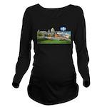 2decoupedrapeau Long Sleeve Maternity T-Shirt