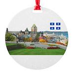 2decoupedrapeau Round Ornament
