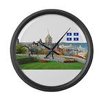 2decoupedrapeau Large Wall Clock