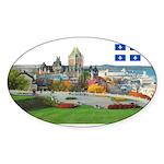 2decoupedrapeau Sticker (Oval 10 pk)