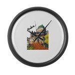 5decoupesignaturetourne Large Wall Clock