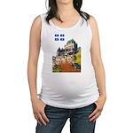 2decoupeDrapeau Maternity Tank Top
